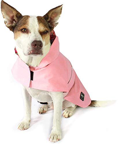American Cat Club Nicole Miller Pink Floral Dog Raincoat for Dogs Pet Apparel, Medium (NM80031MD)