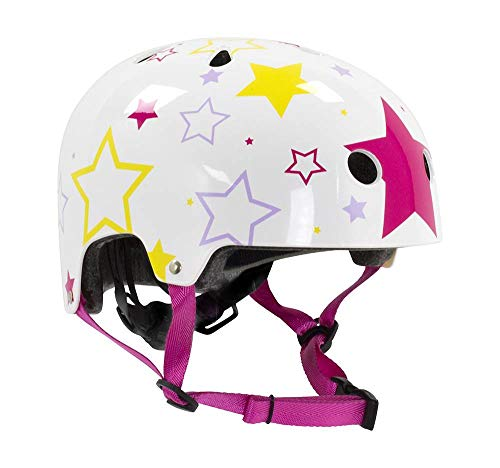 STATESIDE SKATES SFR Regolabile Kids Skate Casco di protezione per il corpo dei bambini, ragazzi Unisex, Multicolore (White/Pink), 3XS/XS