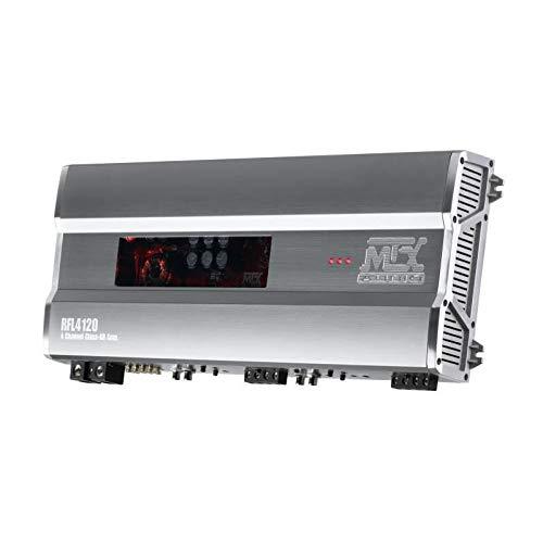 MTX rfl4120 versterker, hoogwaardig, 12 V, 4 kanalen, klasse AB, 4 x 120 W rm, aluminium