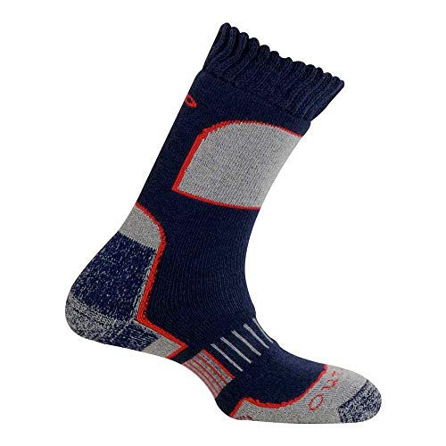 Mund Socks – L'Aconcagua Merino Wool + Outlast, Couleur Navy, Taille EU 34 – 37