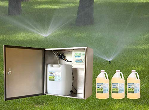 Sprinkler Magician Automated Mosquito Killer Machine & 3 gallons of Concentrate Bundle