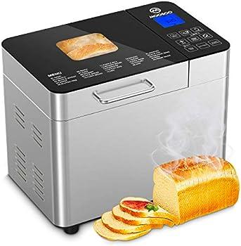 Moosoo 2LB Stainless Steel Programmable 25-in-1 Bread Maker Machine