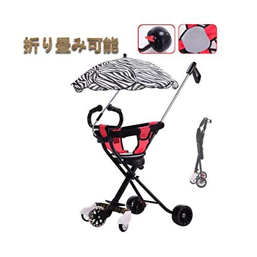 Negro se puede utilizar como un suministro for los niños carro de la ronda 1 5 años de edad y 2 años a 3 años de edad plegable de tres ruedas trasera freno de la rueda bebé silla de comedor plegable t