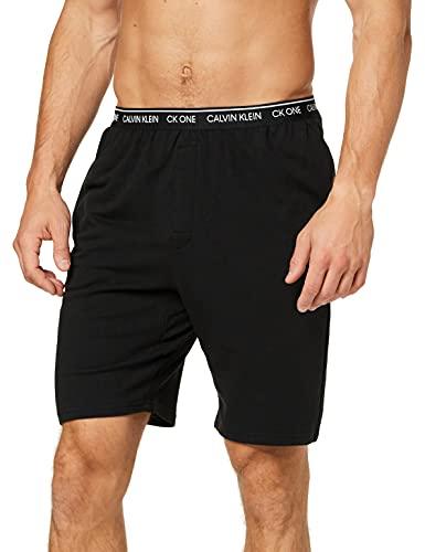 Calvin Klein Sleep Short Pantalones de Pijama, Negro (Black 001), XL para Hombre