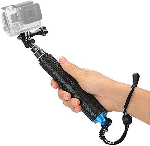 "Foretoo Selfie Stick for GoPro,19""Waterproof Hand Grip Adjustable Extension Monopod Pole for Gopro Hero 6 5 4 3+3 2 1 AKASO, Xiaomi Yi,SJCAM SJ4000 SJ5000 SJ6000 (with Wrist Strap and Screw)"