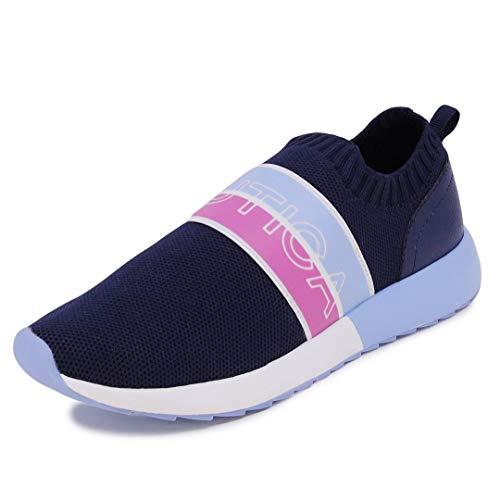 Nautica Women Fashion Slip-On Sneaker Jogger Comfort Running Shoes-Ami-Navy-7.5