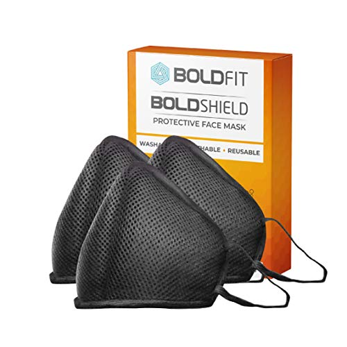 Boldfit Reusable Face Mask for Men and Women. Protect from pollution and germs. Reusable and Washable upto 30 days. Easy Breathable (Pack of 3)