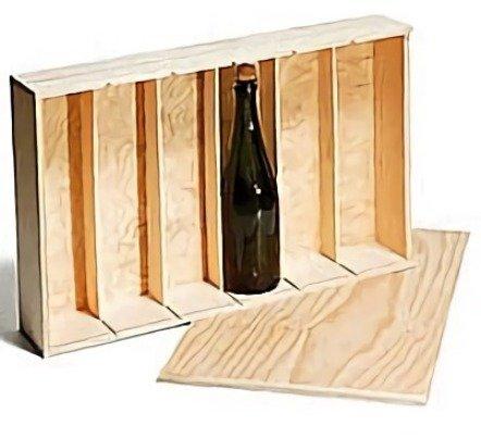 Caja Madera 6 Botellas Vino