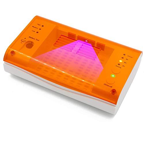 Hearing Aid Case Secador de audífonos con LED de Limpieza UV, audífonos eléctricos, deshumidificador de Caja Seca, con probador de baterías y Temporizador de 3-6-9 Horas