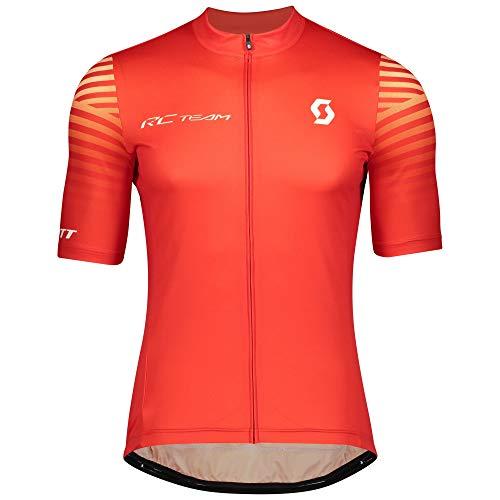 Scott RC Team 10 Fahrrad Trikot kurz rot 2020: Größe: L (50/52)