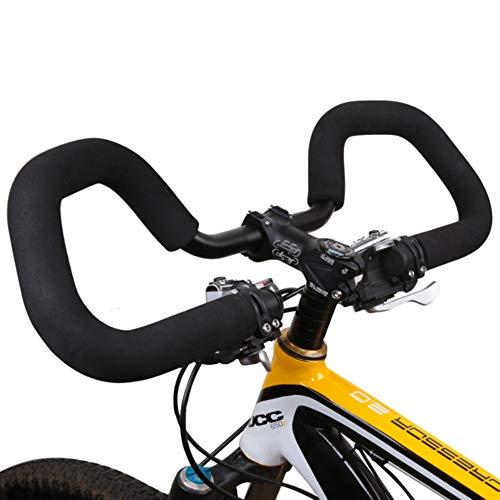 Ting Ao Hot Sale25.4mm Trekking Cycling Road Butterfly Aluminium Alloy Mulit-Position Black Handbar and Sponge Handlebar Set Cruise Mount Sporting Bicycle Mountain Bike.