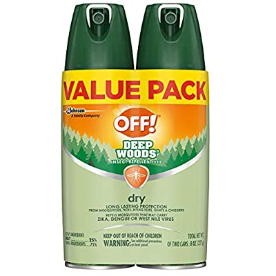 OFF! Deep Woods Insect Repellent VIII Dry, 4 oz. (2 ct) |