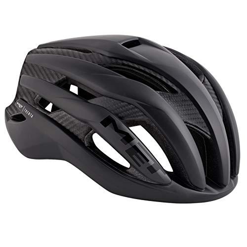 MET Trenta 3K Casco Ciclismo Unisex Adulto, Carbon (Negro), L