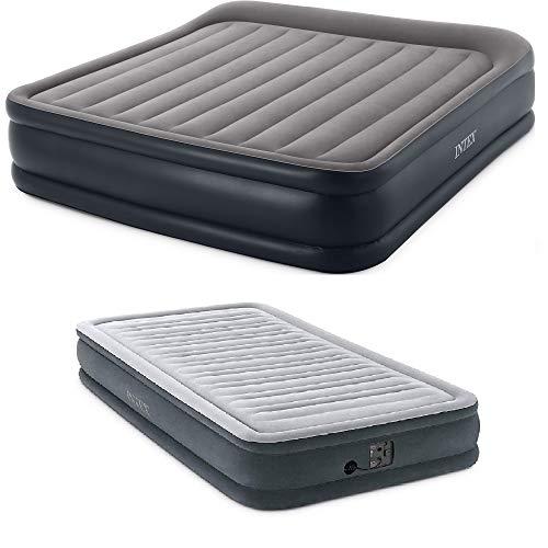 Intex King Deluxe Pillow Air Mattress & Dura Beam Plus Twin Airbed