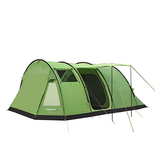 KingCamp Family Camping Tunnel Tent 6-13 Person 3-Seasons Roomy Waterproof Portable Fire-Resistant Sky-Window Instant Outdoor Family Tent for Party Car Trailer BBQ Travel Hiking with Roomy Vestibule