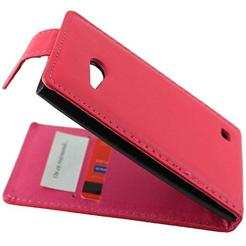 ebestStar - kompatibel mit Nokia Lumia 735 Hülle Lumia 730 dual Etui mit Klappe, PU Kunstleder Handyhülle Schutzhülle Hülle Cover, Pink [Phone: 134.7 x 68.5 x 8.9mm, 4.7'']