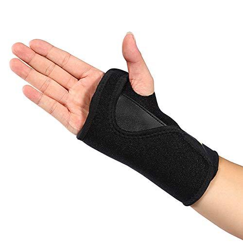 Felenny Handgelenkstütze Atmungsaktive Nachtschlafschiene Verstellbare Stütze für Bowling Sehnenentzündung Arthritis Sport Golf Universelle Rechte Hand