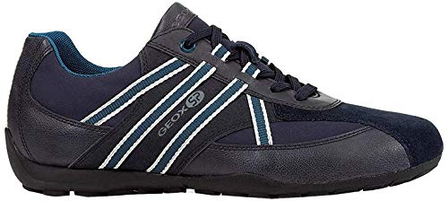 Mens Geox Ravex Trainers in Navy.