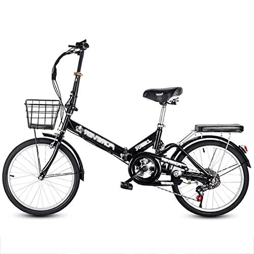 LiRuiPengBJ Bicicleta para niños Plegable de 20 Pulgadas Bicicleta de Montaña de Velocidad Variable Bicicleta de Montaña Asiento Ajustable con Freno de Disco Bicicleta de Ciudad (Color : Style1)