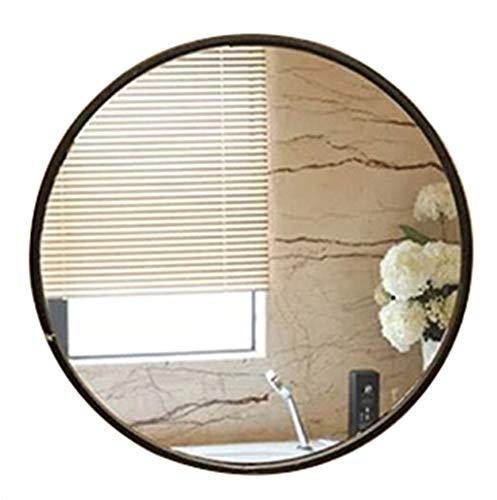 Jiamuxiangsi- Spiegel - Ronde Europese muur gemonteerde badkamer Spiegel/Dressing Tafel Ronde Spiegel/Decoratieve Spiegel ==spiegel Black-30cm