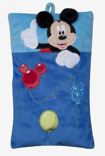 Joy Toy 14423 - Mickey y Minnie - Cojín con Bolsillo para Pijamas (22 x 35 cm)