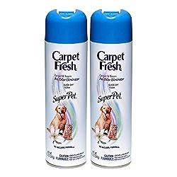 top 10 carpet freshener spray Carpet Fresh, Vacuum Foamless Carpet Freshener, Superpet 10.50 oz (2 packs)