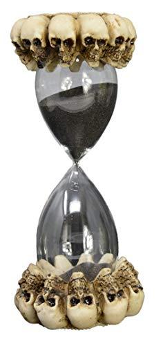 Piquaboo - Figura Decorativa de cráneo gótico (6 Minutos), diseño de Reloj de Arena