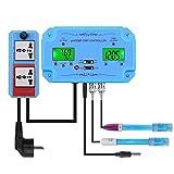 Herramientas de diagnóstico, prueba y medición 3 en 1 PH/TEMP/ORP Regulador de la calidad del agua Detector de tipo BNC Sonda de calidad del agua del probador for acuario monitor para adultos