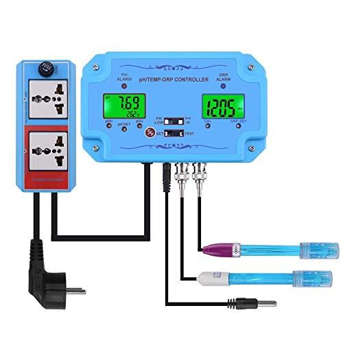 HUACHEN-CHAO Mess Tester 3 in 1 PH/Temp/ORP-Controller Wasserqualität Detektor BNC Typ Sonde Wasserqualität Tester for Aquarium-Monitor Digital Meter Test Tool