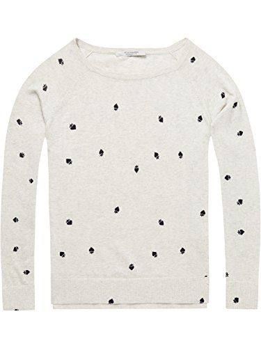Scotch & Soda Maison Damen Long Sleeve Pull with Various Allover Prints Pullover, Mehrfarbig (Combo B 18), Small