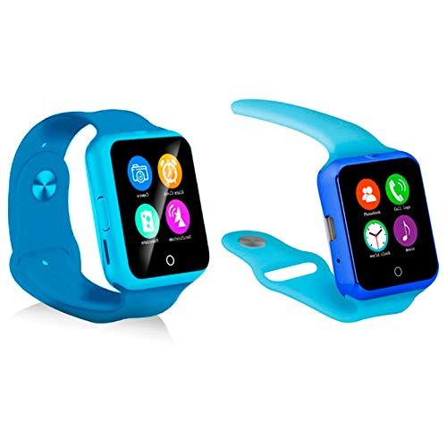 KawKaw D3 Smartwatch mit Pulsmesser und Smartcam mit Push-Up-Nachrichten, Synchronisation, SMS, etc.