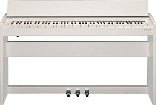 Roland F-104R Compact 88-Key Digital Piano with Built-in Speaker, Satin White (F-140R-WH)