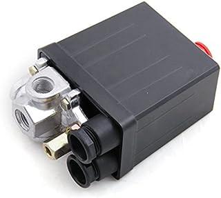 ZOOMY Valvola di Controllo pressostato del compressore dAria per Servizio Pesante 90-120PSI 1//4 Attacco 2# Nero