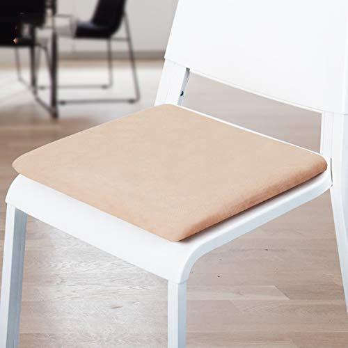 YZHY Cuscino per Sedile Quadrato in Memory Foam,Antiscivolo e Leggero,Cuscino per Sedia da Ufficio Traspirante,per casa,Cucina,Ufficio,Auto,40 cm * 40 cm * 5 cm