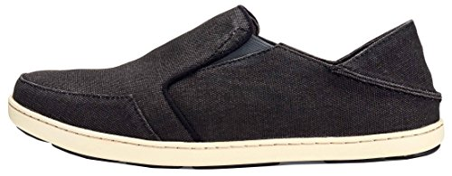 OLUKAI New Men's Nohea Lole Slip On Black/Dark Shadow 8.5