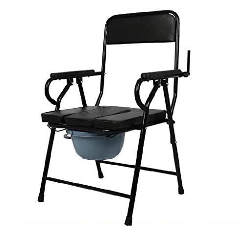Badkamer Toilet fauteuil, Carbon Steel fauteuil, badkamer armsteun, draagbare toilet for ouderen, toiletbril for Indoor Armsteun