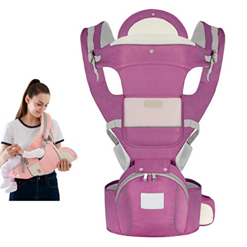 SZCATONG Baby Carrier for Newborns and Toddlers,Infantino Go Forward Evolved Carrier - Ergonomic Face-in and Face-Out, Front and Back Carry,Four Seasons Universal Breathable (Color : Purple A)