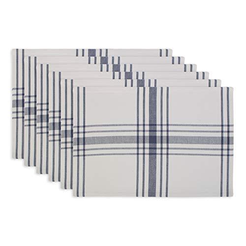 DII Home Sweet Farmhouse Kitchen Textiles, Placemat Set, French Blue 6 Piece