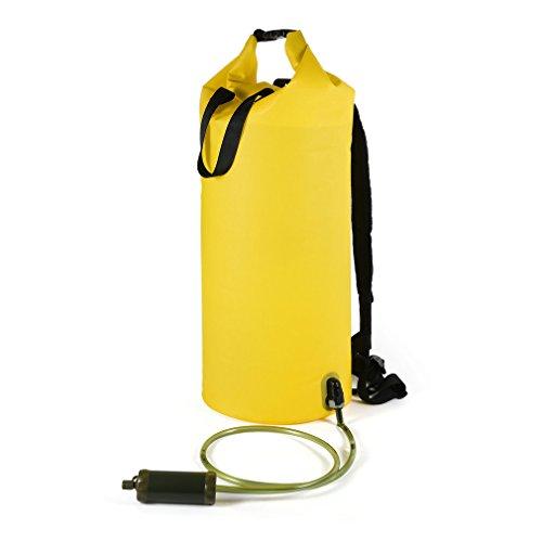 OUTAD Wasserfilter Packsack mit UF Hohlfaserfilter für Bootfahren Wandern Kajaken Kanufahren Angeln Schwimmen Skifahren Snowboarden mit wasserdichter