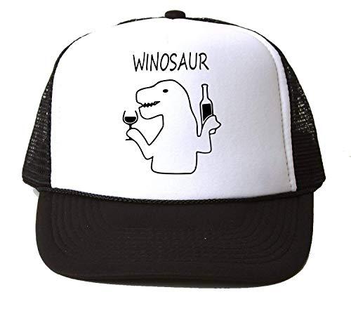 PasTomka Winosaur Dinosaur Wijn Drinken Unisex Honkbalpet Hoed Snapback