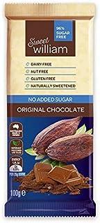 Sweet William No Added Sugar Original Chocolate Bar 100 g