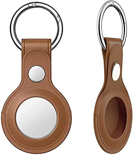 HEXLONG Llaveros portátil anti pérdida de cuero funda protectora localizador resistente a los arañazos lavable inalámbrico Key Tracker para ancianos llavero monedero teléfono mascota