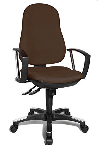 Topstar 9020AG08, Trend SY 10, Bürostuhl, Schreibtischstuhl, ergonomisch, mit Armlehnen, Bezugsstoff dunkelbraun