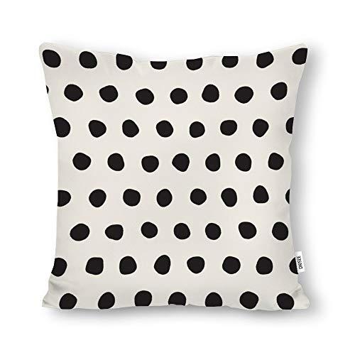 DKISEE Funda de almohada decorativa sin costuras, con círculos dibujados a mano, cuadrada, lona de algodón, funda de cojín lumbar para sofá cama, sofá cama, sofá cama, 45 x 18 pulgadas