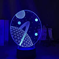 3DイリュージョンランプLedナイトライトベビースペースプラネットforキッズチャイルドルームデコレーションUSBバッテリー式デスクランプユニークなギフト子供用スリープランプ