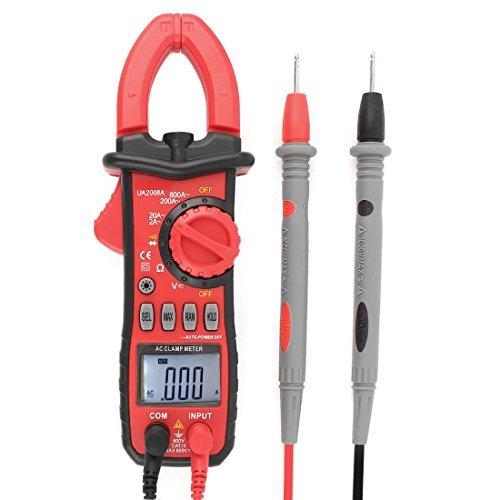 Pinza amperimétrica AC/DC del amperímetro del voltímetro Ohmetro multímetro digital
