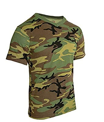 Rothco Camo V-Neck T-Shirt, XL
