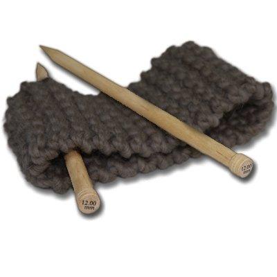 Kit breiset voor beginners voor breien haarband grote wol bruin bruin