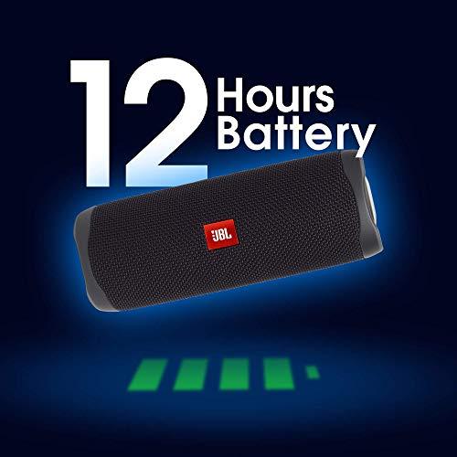 JBL Flip 5 Speaker Bluetooth Portatile, Cassa Altoparlante Waterproof IPX7, Compatibile con JBL PartyBoost, fino a 12 Ore di Autonomia, Nero