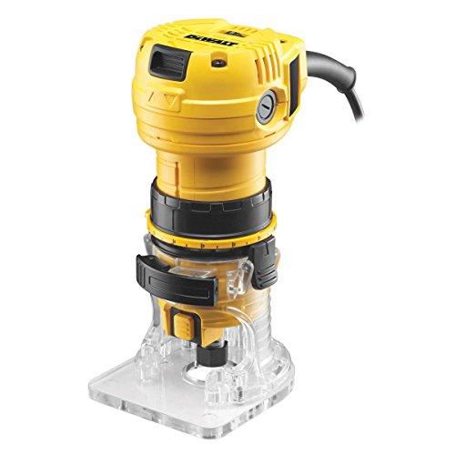 Dewalt DWE6005-QS Perfiladora 590W-34.000 RPM (6 mm), Negro